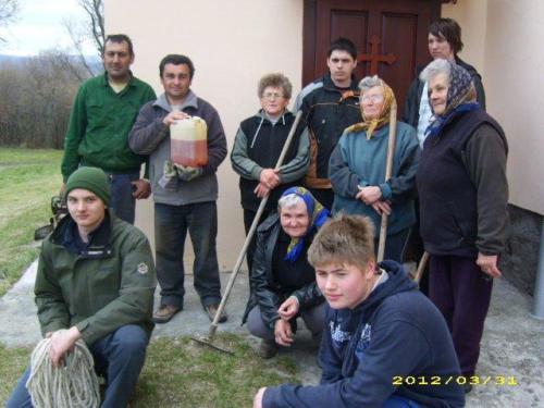 Templomkert - közösségi munka - 2012. 03. 31.